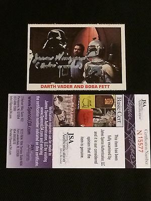 1980 Burger King Star Wars Signed Card Jsa Diversified Latest Designs Dependable Jason Wingreen voice Of Boba Fett