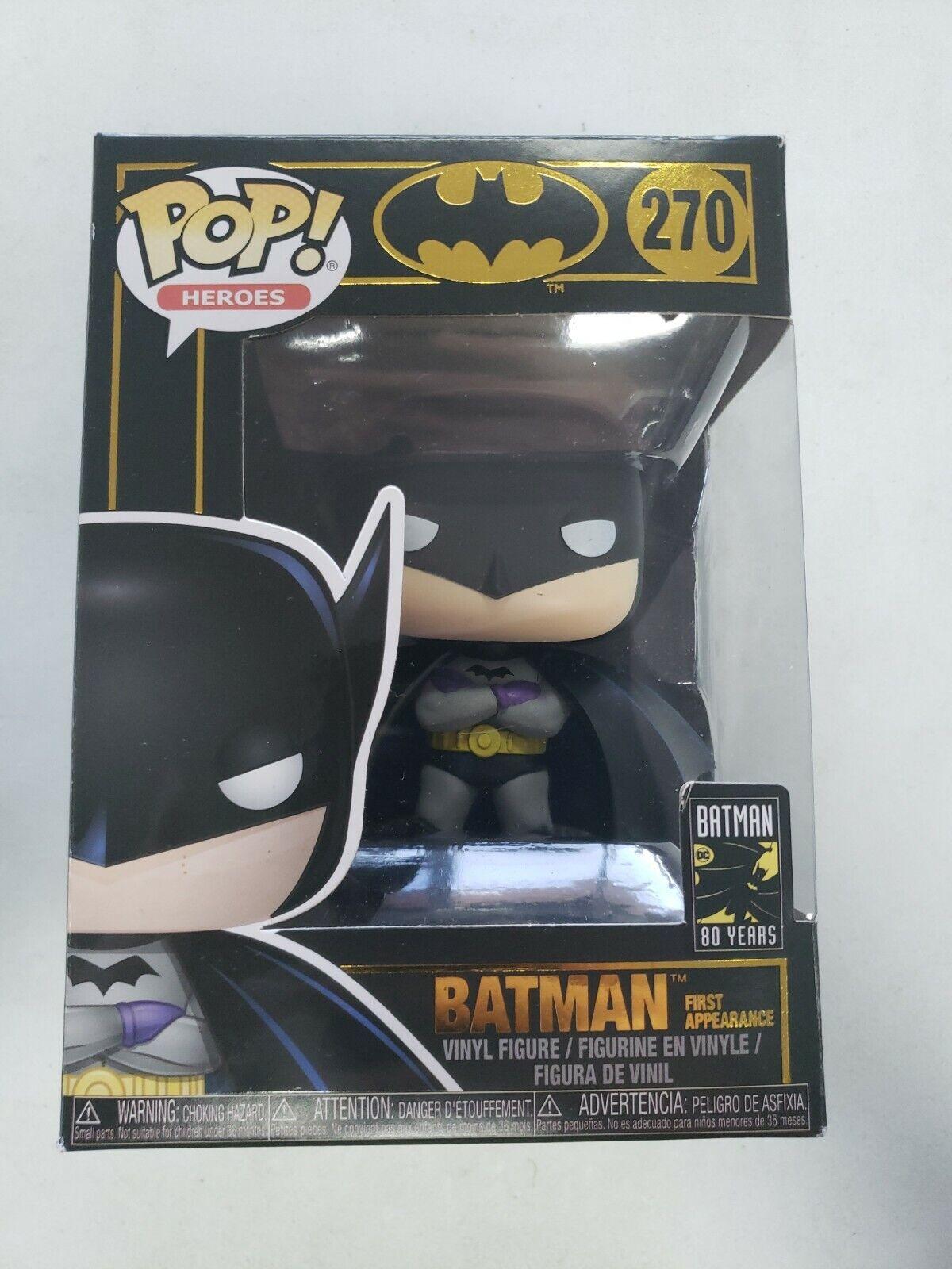 1st Appearance POP Heroes: Batman 80th Vinyl figure #270 Funko POP Bob Kane