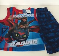 How To Train Your Dragon 2 Piece Pajama Set Muscle Tee Short 4/5 6/7 10/12