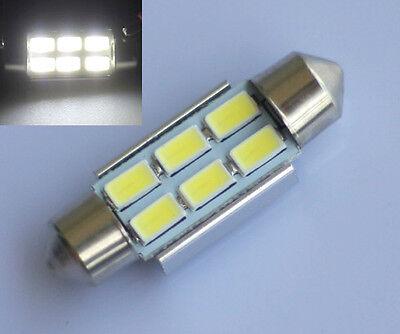 2pcs 36mm 6 SMD 5630 LED Light Canbus Error free Car festoon Interior Bulb