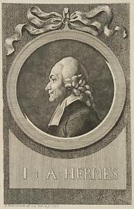 Chodowiecki (1726-1801). ritratti di Johann agosto Hermes; pressione grafico