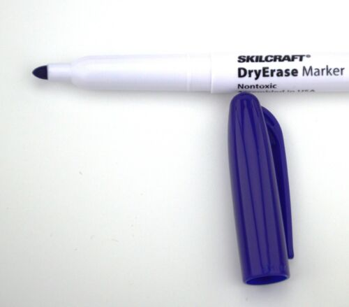 Details about  /10 pack BLUE Skilcraft Dry Erase Marker Fine Point Tip