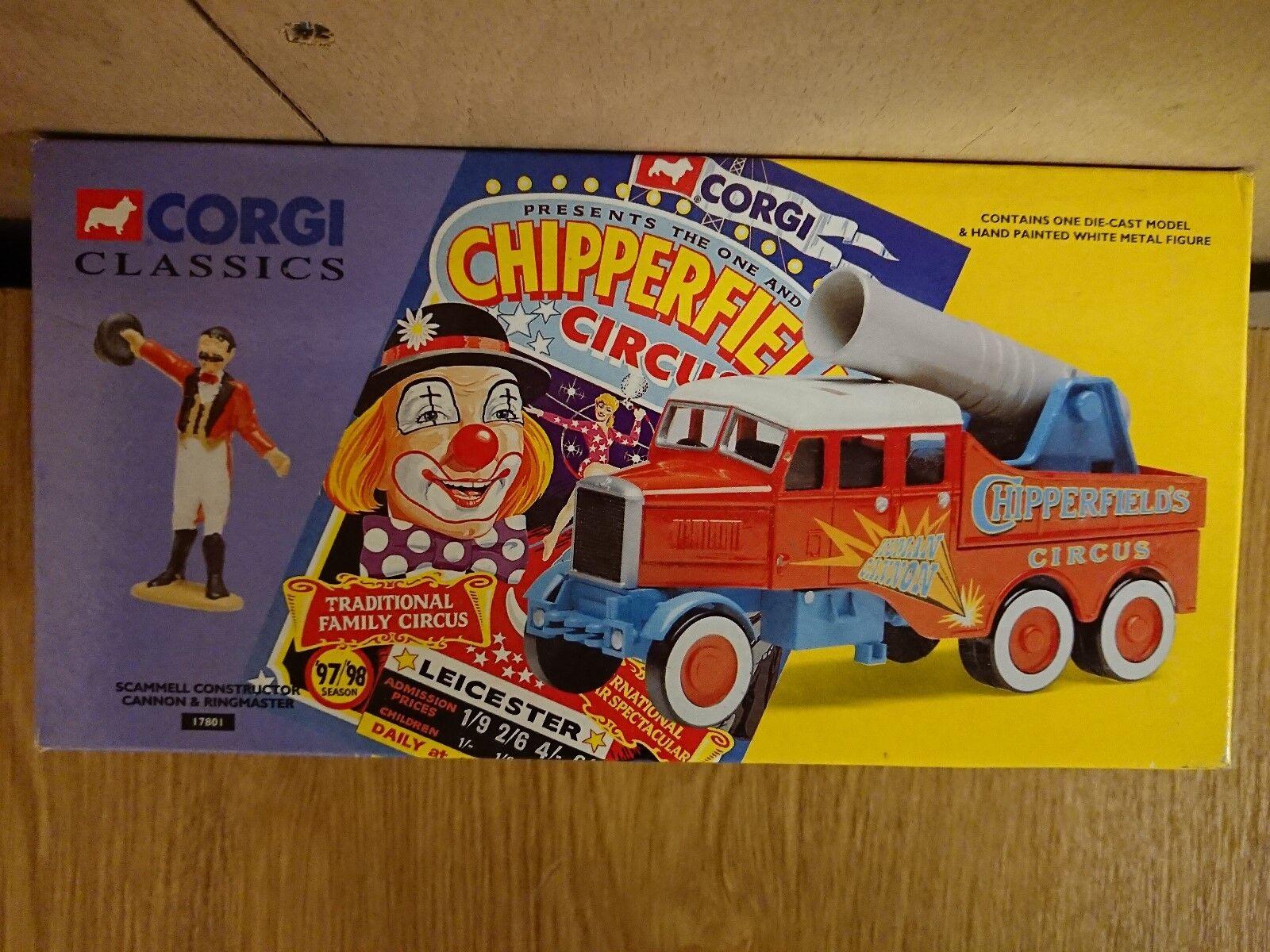 Corgi Classics 17801 Circus Scammell Constructor Human Cannon Ltd Edition No.4