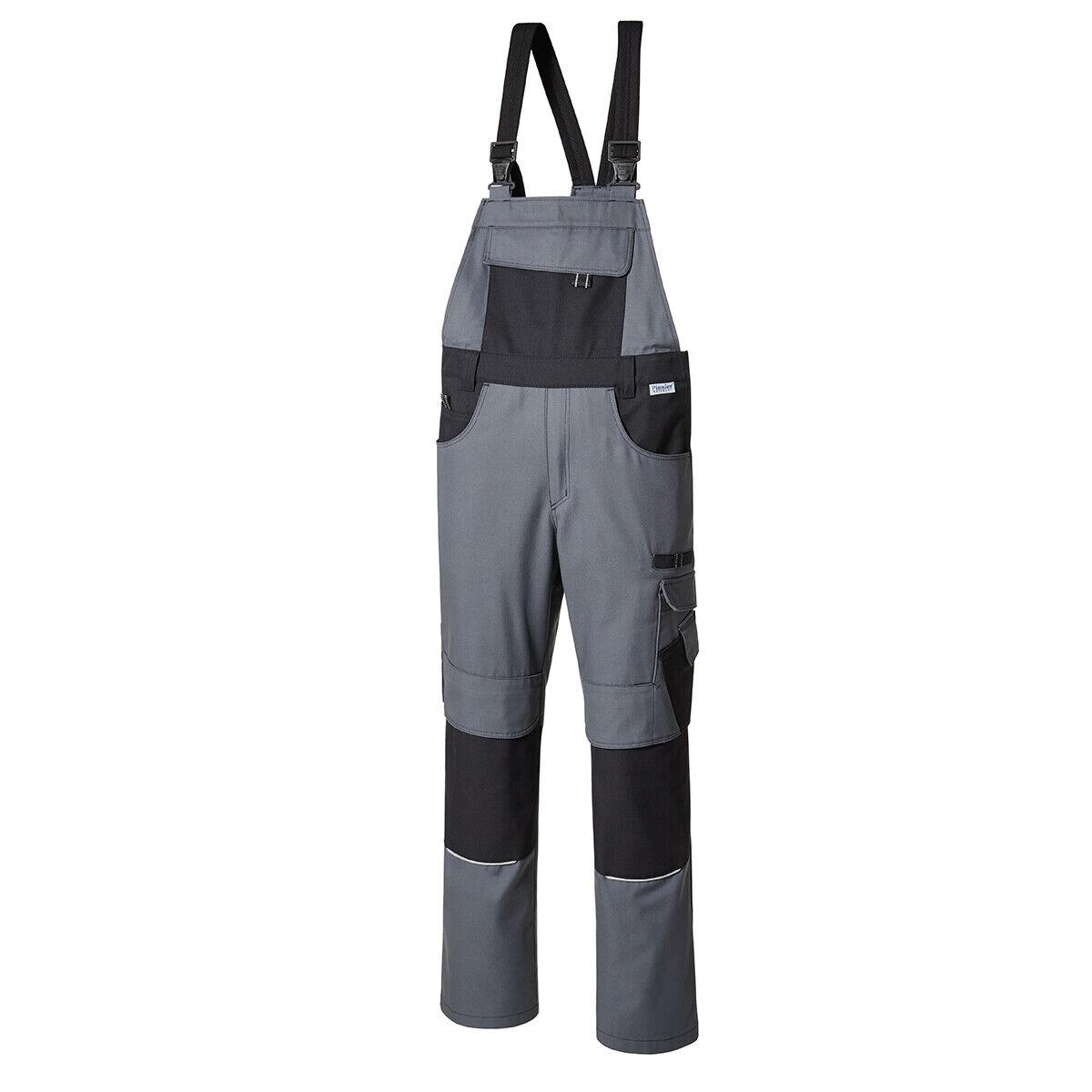 839352a5 XXL Pionier Workwear Latzhose grey black Normalgrößen untersetzte  untersetzte untersetzte Größen NEU e6c8af
