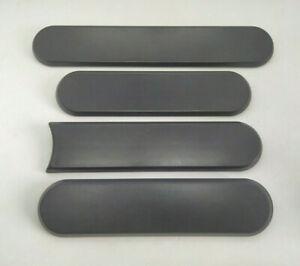NEUF-4x-ENJOLIVEURS-DE-CUSTODES-GRIS-PEUGEOT-205-3-portes-Xs-Dturbo-LOGO