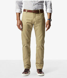Dockers-Alpha-Stretch-Khaki-Slim-Fit-Tapered-Leg-Men-039-s-New-British-Khaki-Pants