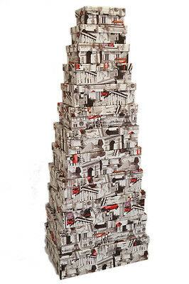 Set 12 World Landmark London Tower Design Storage Decorative Gift Nesting Boxes