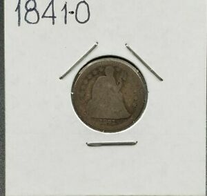 1841 O Liberty Seated Dime Silver Coin Choice AG About Good Circulated