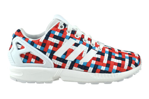 Adidas ZX Flux white blue red Sneaker Schuhe mehrfarbig S82750