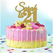 21st Birthday Cake Topper PERSONALISED Decoration Twenty First 21 Custom