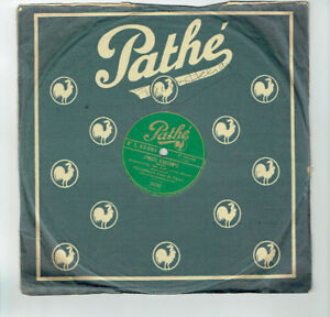 78T-25cm-VILLABELLA-Disk-Phonograph-Sung-SERENADE-FRANCAISE-PATHE-93093
