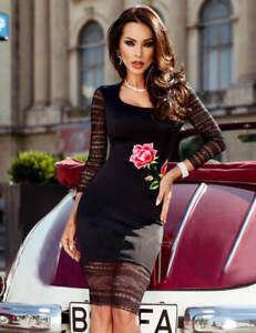 SuzanjaS elegantes Kleid in schwarz mit transparenten