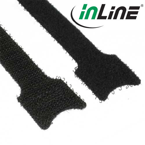 InLine Cable Tie With Touch Fastener,12x150mm ,10er,Black