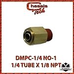 """FIT-PUSHTUBE-CONNECT-B9-4-2 Connector Straight 1//4/"""" Tube to 1//8/"""" NPT Male"""