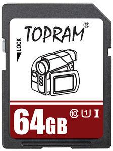 TOPRAM-64GB-SD-64G-SDXC-UHS-U1-class10-C10-SD-2-0-3-0-secure-digital-card-bulk