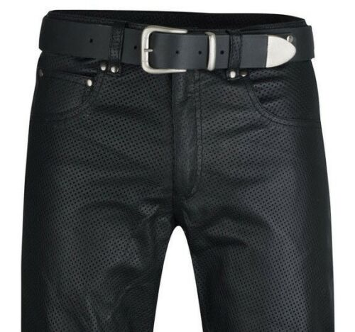 Abbigliamento e accessori Uomo: abbigliamento 48 Schnürjeans Lederhose Moto in Pelle Pantaloni Scorpione Mis