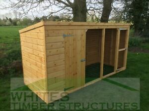 Dog Kennel And Run 12x4 Ebay