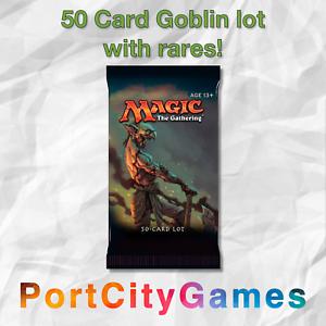 50-Card-Goblin-lot-Magic-MTG-w-Rares-FREE-bonus-Rares-amp-Booster-Packs