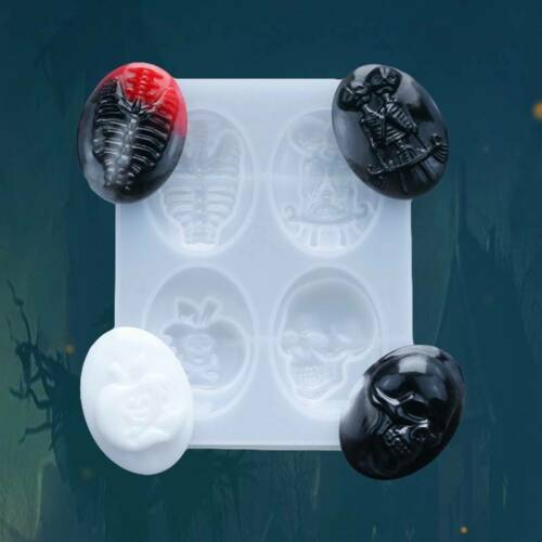 Halloween Skull Silicone Mold Fondant Cake Chocolate Mould Baking DIY Molds /_US