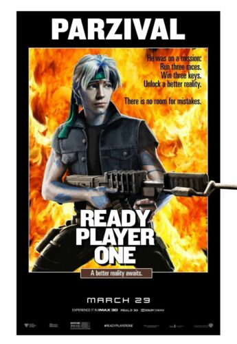 Art Poster READY PLAYER ONE MOVIE PRINT 010 Hot Silk 30 40 24x36inch T-183