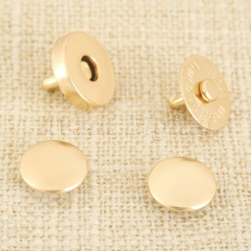 10Sets 14mm 18mm 4mm Thick Magnetic Buttons Press Snaps Purse Clothes Bag DIY