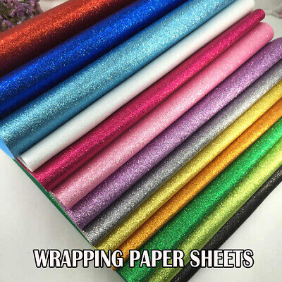 Glitter sparkle gift wrapping PINK sheet perfect for Christmas-69x49cm-Xmas wrap