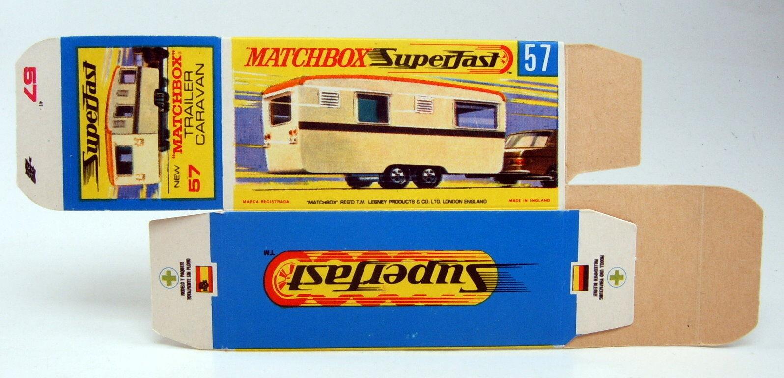 tiempo libre Matchbox súperfast 57b tráiler Cocheavan originales en en en blancoo  H  box presión frescos  se descuenta