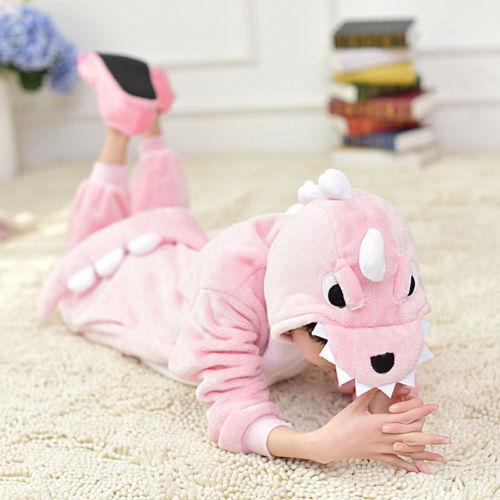 Kids Costume Fancy Dress Cosplay Onsie10 Unisex Hooded Animal Pajamas PARTY-BT