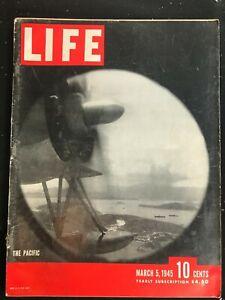 LIFE MAGAZINE - Mar 5 1945 - IWO JIMA / WWII / F.D.R.'s Daughter / King Saud /