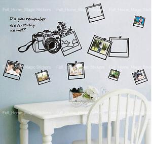Family Photo Frames Camera Wall Stickers Home Decor Vinyl Paper Art