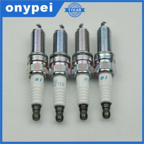 4x NGK SILZKR6B10E 93815 Iridium Spark Plug For Hyundai Accent Veloster Kia Soul