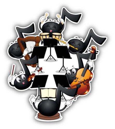 Musical Notes Orchestra Car Bumper Sticker Decal 4/'/' x 5/'/'