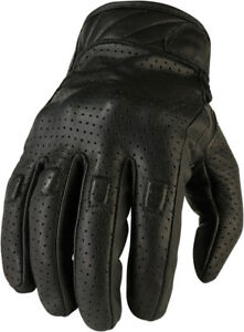 Z1R-Men-039-s-270-Leather-Motorcycle-Riding-Gloves-Black-Choose-Size