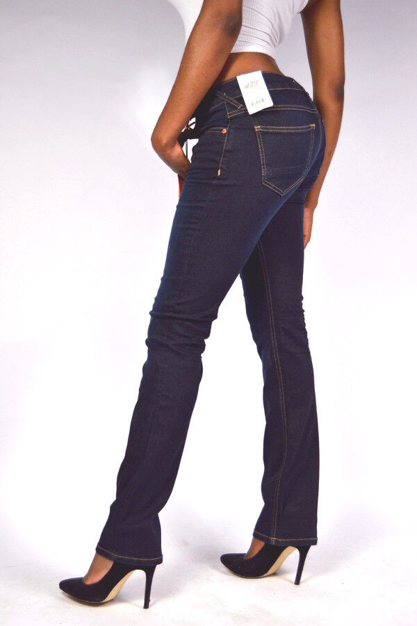NOUVEAU  ATT Amor Jeans Stella Straight 227 Rinsed Wash-Droit Jambe-Conf. plus importante.