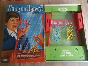 Vintage-034-HANG-ON-HARVEY-034-family-game-By-Ideal-Games-1969-Complete