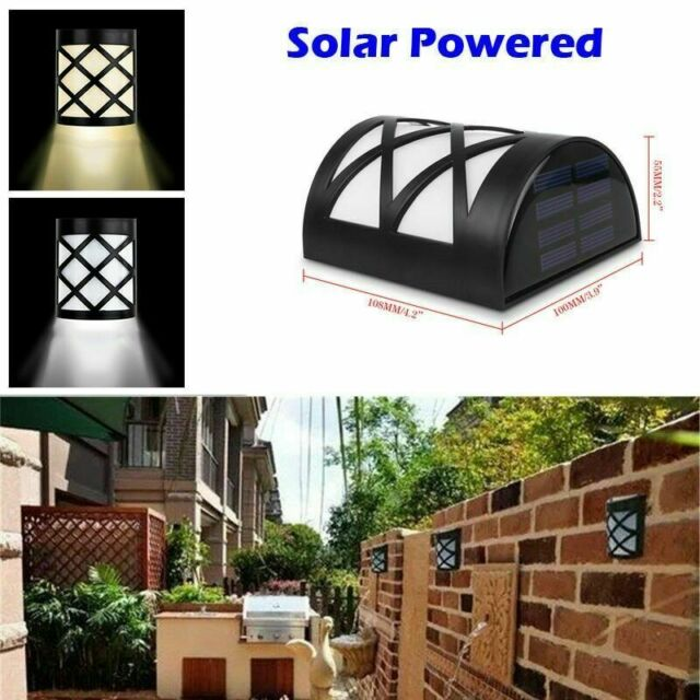 1//3//5 LED Solar Power Light Outdoor Garden Security Wall Fence Gutter Yard Light