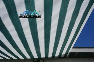 SHANS New Design Stripes Green And White 90% UV Shade Cloth with Clips Free