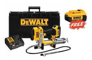 DeWalt-DCGG571M1-20v-4-0Ah-XR-MAX-Cordless-Grease-Gun-Kit-w-FREE-4-0Ah-Battery