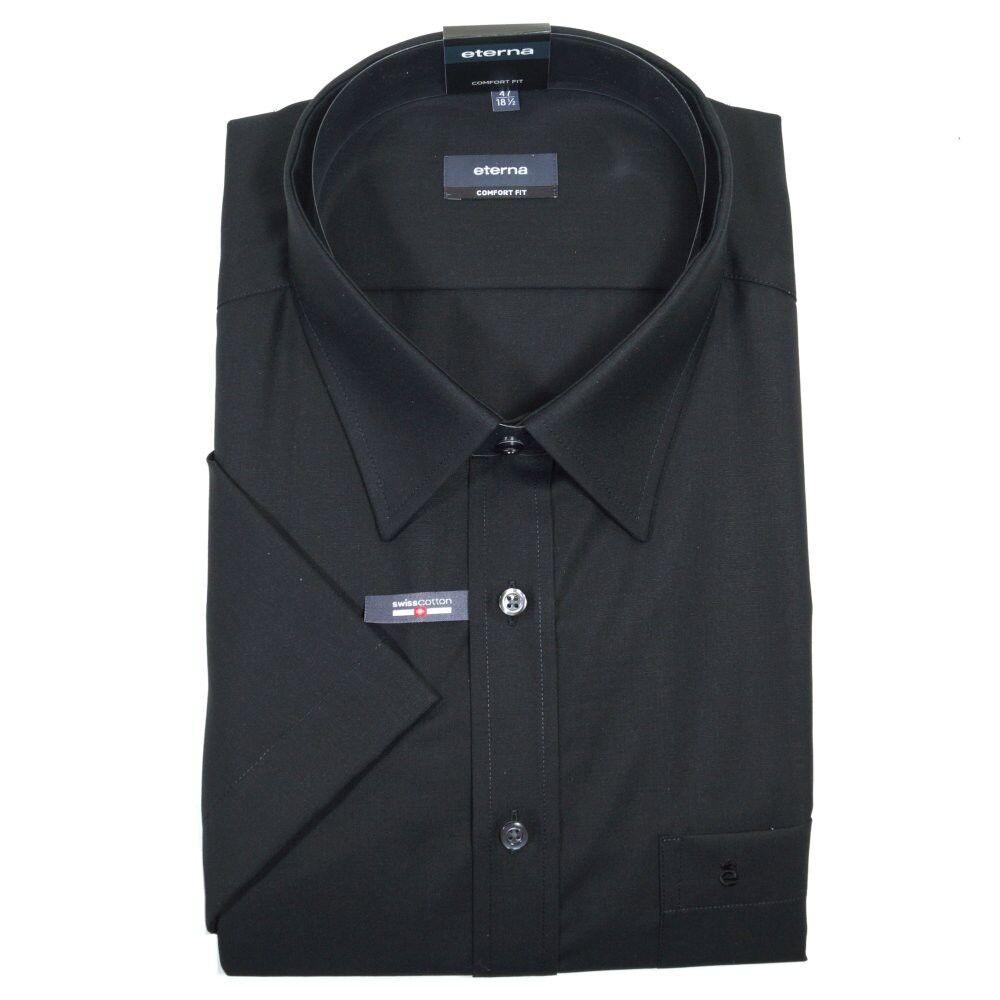 Eterna Herrenhemd Kurzarm Business Business Business 1100 39 K198 Comfort Fit Schwarz XXXL 47  | Zarte  4e88ca