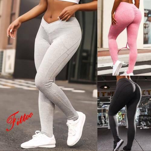 Ladies Anti-Cellulite Butt Lift Yoga Pants Gym Fitness Scrunch Leggings Jumpsuit
