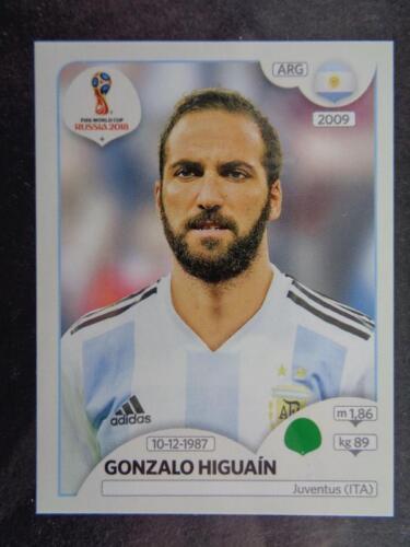 Panini WORLD CUP 2018 Rusia-Gonzalo Higuaín Argentina Nº 291