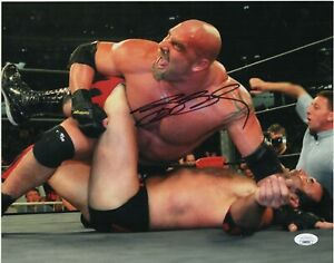 Bill-Goldberg-Autograph-Signed-11x14-Photo-WWF-WWE-WCW-Superstar-JSA-COA