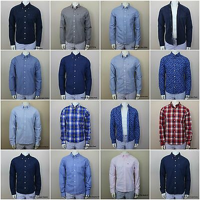 NWT ABERCROMBIE & FITCH MEN`S PLAID CLASSIC SHIRTS Long Sleeve SZ: S,M,XL,XXL