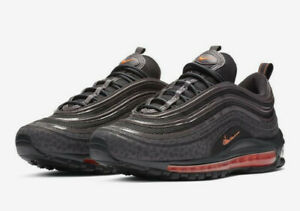 Details about Nike Air Max 97 SE Reflective SZ 9.5 Off Noir Total Orange Grey BQ6524 001