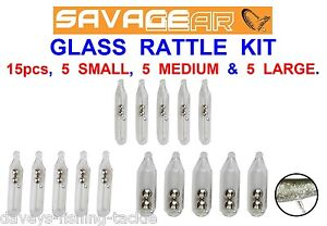6+6 SAVAGE GEAR GLASS RATTLE AND SPIKE KIT FOR SOFT BAIT CANNIBAL SAND EEL SHADS