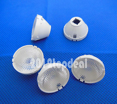 5pcs 45 Degree 21mm Reflector Collimator LED Lens For Cree T6 U2 XML XM-L LED