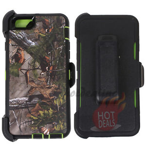 promo code 3a9b2 4f94a Details about For iPhone 6 Plus/6s plus Green Camo case (Belt Clip Fits  OtterBox Defender) #F