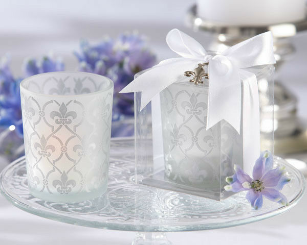 48 FLEUR DE LYS Tea Light Candle Holder Mariage faveurs