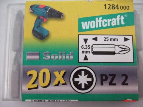 Bits PZ 2 Pozidriv Schrauberbits Innenausbau wolfcraft 20 Stück