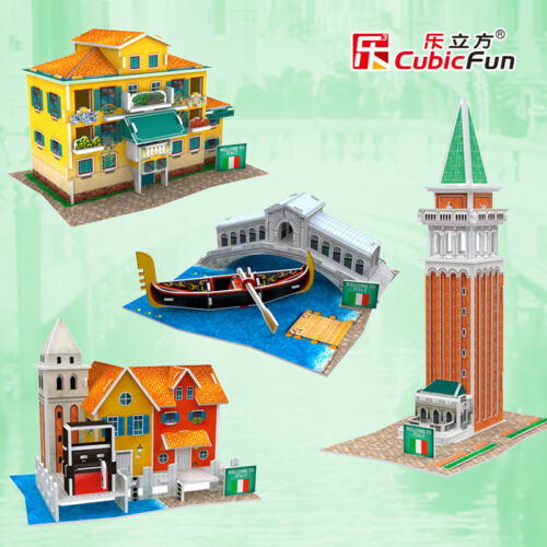 3D paper puzzle building model toy Italy Venice St Mark/'s Square leaning tower